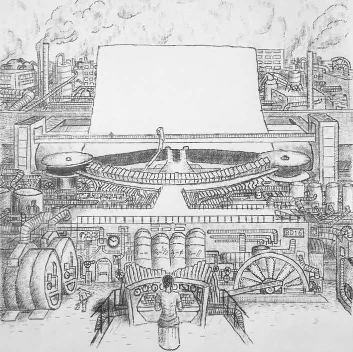 The Giant Steamdriven Typewriter
